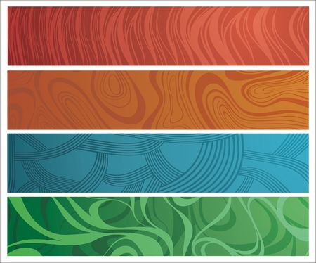 Four differently ornamented banners for your design Stock Vector - 6747484