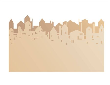 City theme banner with an empty space for your text Illustration