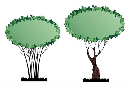 Two tree - banners with empty spaces for your text Stock Vector - 6747497