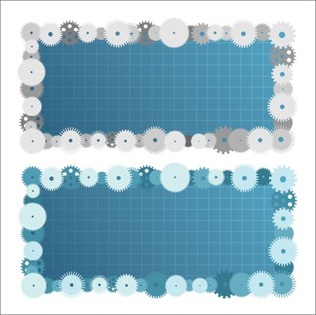 Two creative banners with empty spaces for your text. Stock Vector - 6809874