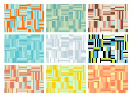 Abstract geometric shapes pattern. File contains nine different colour variations