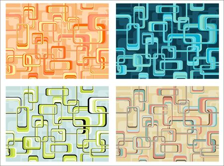 Abstract continuous pattern. File includes four different color variations Stock Vector - 6809886