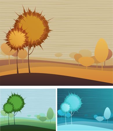 Creative nature theme background with three color variations Stock Vector - 6894846