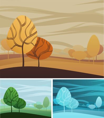 Creative nature theme background with three color variations Stock Vector - 6894839