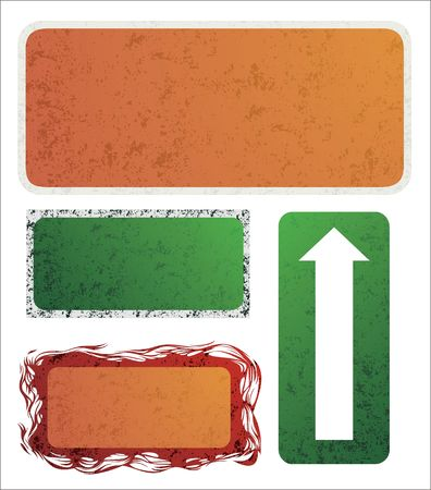 Set of different design banners with grunge texture Stock Vector - 6894905