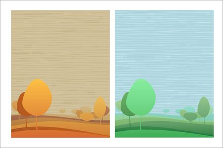 Nature theme background with two color variations Stock Vector - 6894836