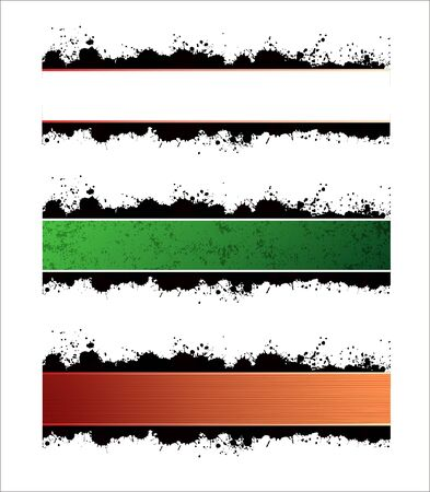 Three horizontal banners with different color and texture variations  Stock Vector - 7078280