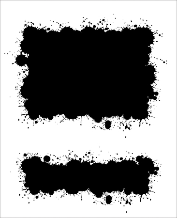 Two different ink splat banners Stock Vector - 7078263