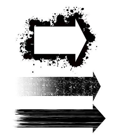 flecha direccion: Tres flechas de dise�o diferente aislado