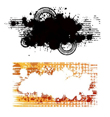 Two creative design abstract isolated banners Stock Vector - 7315753