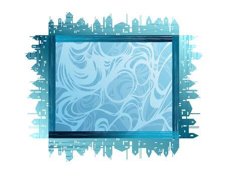 City theme creative vector frames Stock Vector - 7764588