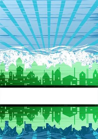 Creative city theme background Stock Vector - 7764624