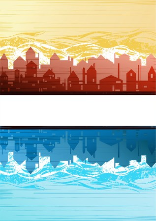 Creative city theme background vector  Stock Vector - 7764636