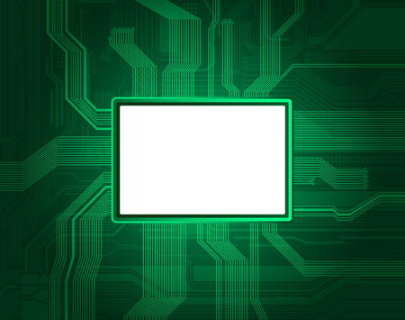 Technological style banner