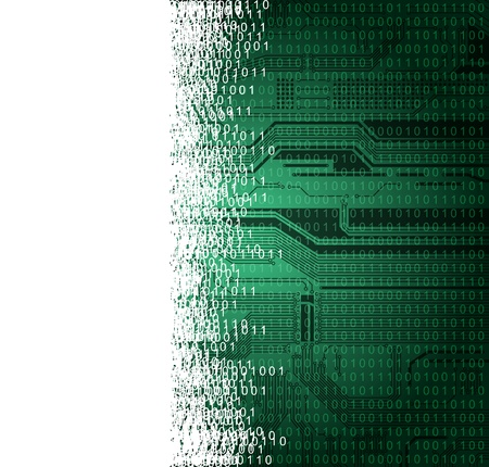 abstract technology theme background with empty space for text