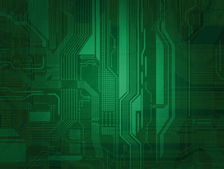 Highly detailed manually drawn (not traced) circuit board pattern with transparency effect