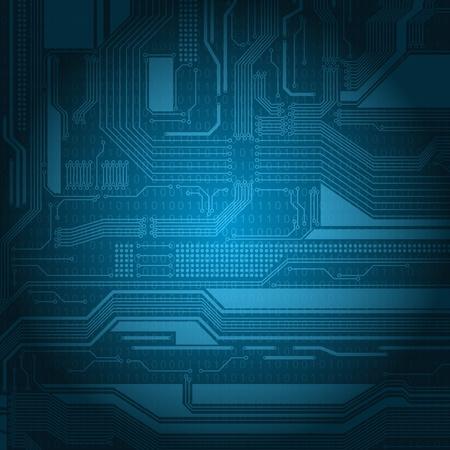 esquemas: Fondo de estilo abstracto de tecnolog�a con el patr�n de textura y n�meros de placa de circuito detallada.
