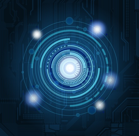 Abstract technology theme background with highly detailed circuit pattern. Eps10  Illustration