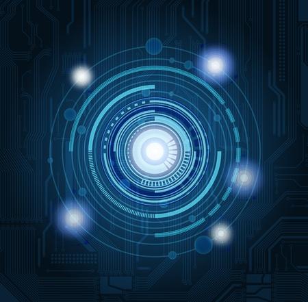 redes electricas: Fondo de tema de tecnolog�a abstracto con patr�n de circuito muy detallado. Eps10  Vectores