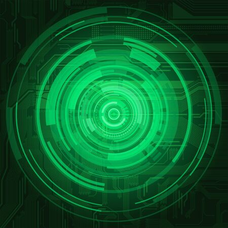 Abstract technological style background with highly detailed circuit board pattern and transparency effect  Illustration