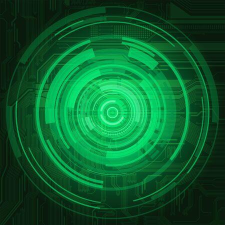 Fondo de estilo abstracto de tecnol�gica con efecto de patr�n y la transparencia de la placa de circuito muy detallado
