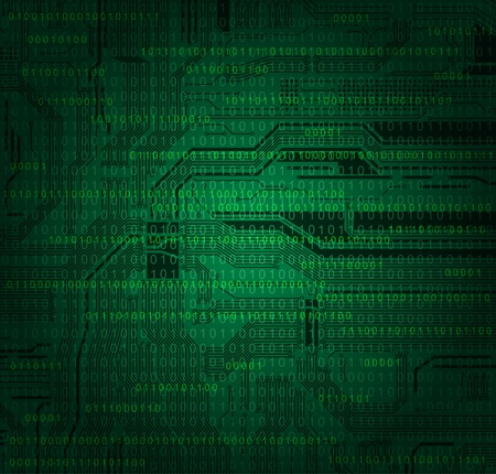 abstract technology style background with detailed circuit board texture and numbers pattern. Eps10  Vector