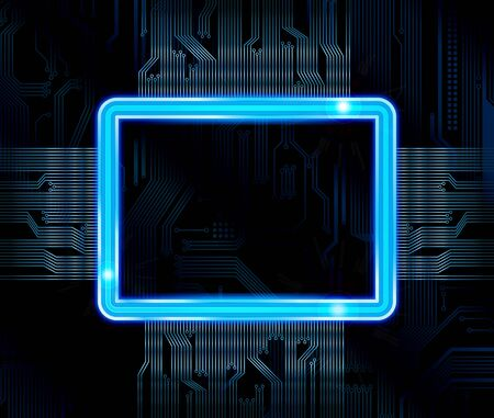 electronics industry: Abstract technology theme banner.  Illustration