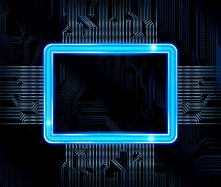 Banner de tema de tecnología abstracta.