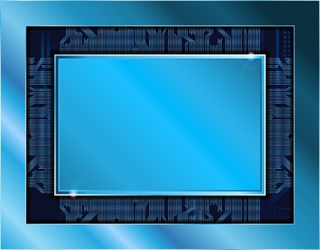 technology theme banner with empty space for text. Stock Vector - 8458109