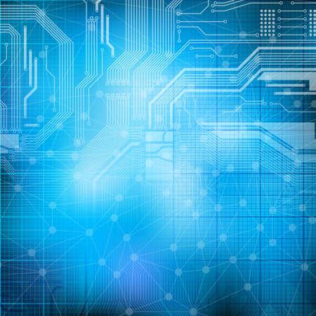 industry background: Fondo de tema de tecnolog�a de dise�o abstracto. Eps10