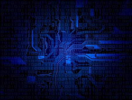 Fondo de tema de tecnolog�a con el patr�n de circuito detallada.