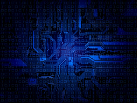 technology theme background with detailed circuit pattern.
