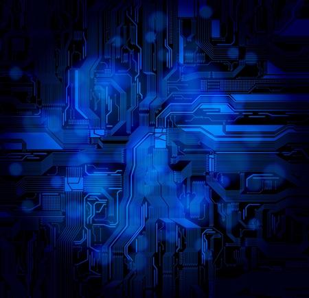 detailed circuit pattern on bokeh background. eps10