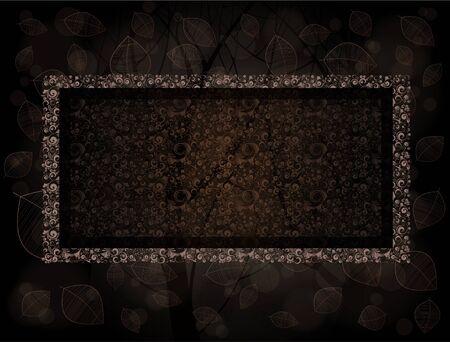 marcos decorados: Decorado fotogramas con fondo de bosque.