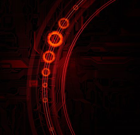 Technology banner with detailed circuit pattern and space for text.