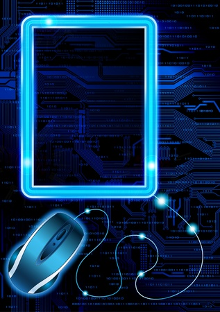 Technology theme vector frames. Eps10  Stock Vector - 8774151