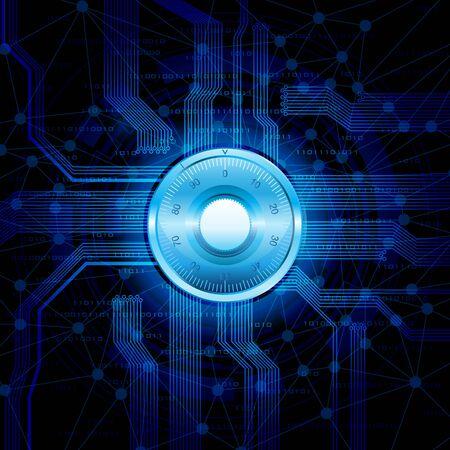 Ilustraci�n vectorial conceptual. Seguridad en el tema de internet. Eps10