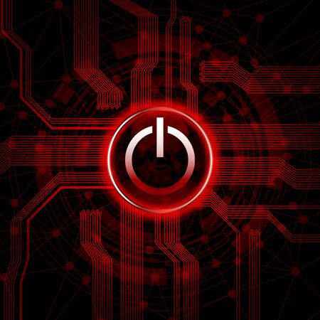 Abstract design background with power switch button.