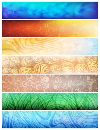 Creative design, nature theme vector banners. eps10  Stock Vector - 8972908