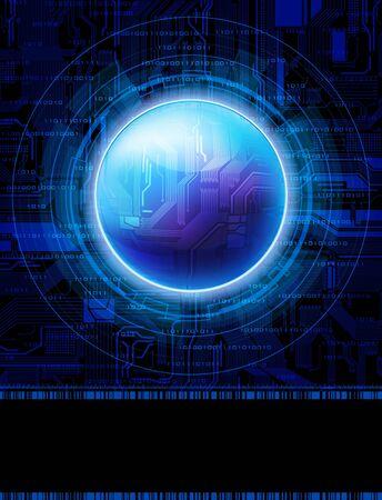 Fondo de vector de estilo de tecnolog�a. eps10 Vectores