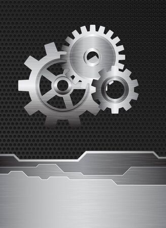 Technology, engineering theme metal texture Vector