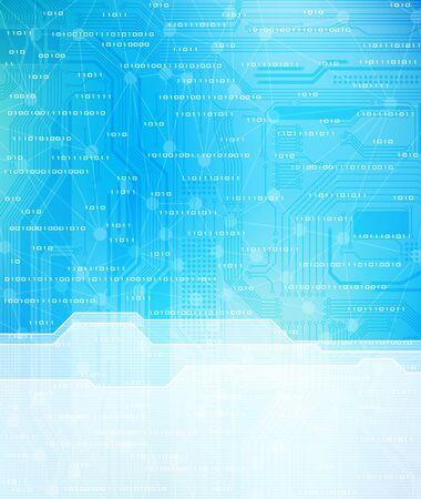 Technology theme vector template. Eps10