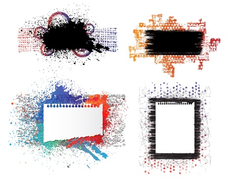 Isolated creative design, grunge style vector banners. Eps10 Stock Vector - 9342920