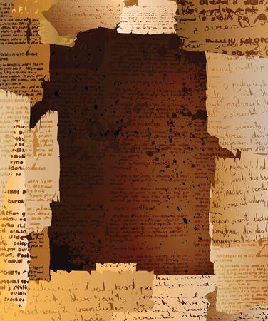 periodicos: Grungy fondo de dise�o creativo con espacio para texto. vector de eps10