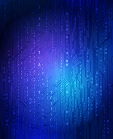 binary data:  technology theme background.  Stock Photo