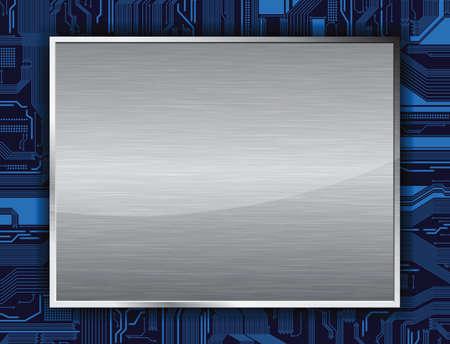 Banner de tema de tecnolog�a. Eps10  Vectores