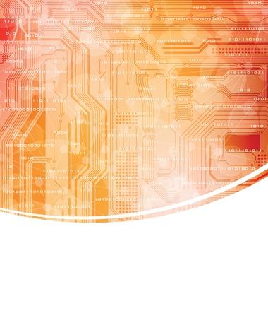 Modern technology theme banner. eps10 format
