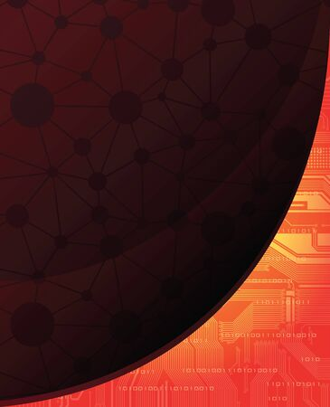 Technology theme banner. eps10  Vector