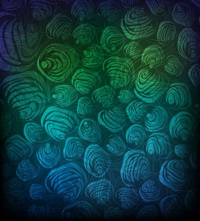 Sfondo astratto con conchiglie stilizzate. Archivio Fotografico - 9881258