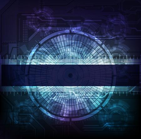 La ciencia y la bandera de la moderna tecnolog�a de tema.
